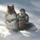 Friends Atop the snows in the garden by eoconnor