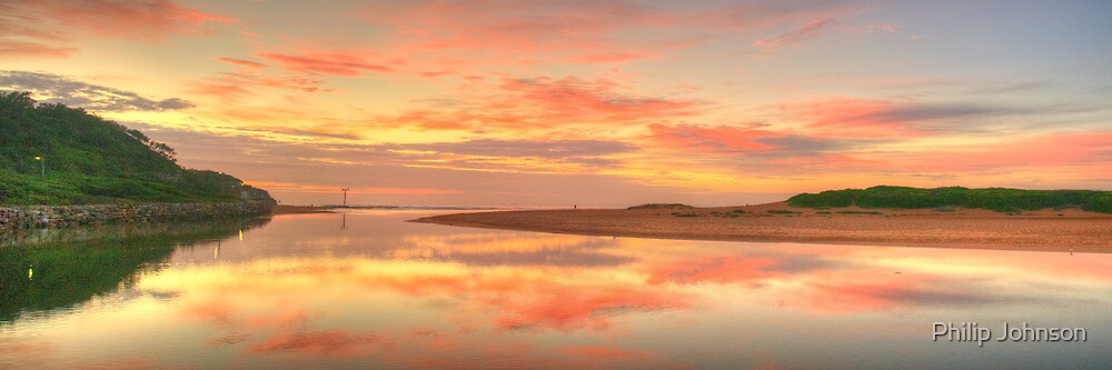 Pastels At Dawn - Narrabeen Lakes Entrance, Sydney - The HDR Experience by Philip Johnson