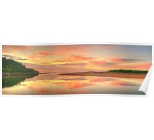 Pastels At Dawn - Narrabeen Lakes Entrance, Sydney - The HDR Experience Poster