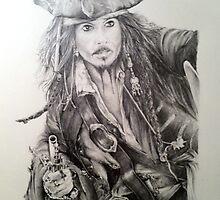 Johnny Depp as Captain Jack Sparrow by AlanArt