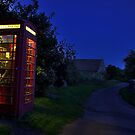 Cotswolds phone box at night by Guy Carpenter