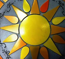 Bright wall Plaque for Patio -  by EdsMum