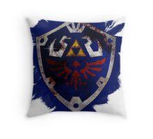 Hylian Shield Brushed Throw Pillow