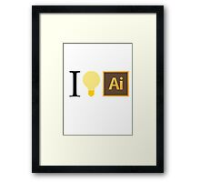 I think in Ai Framed Print