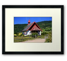 A Little Church in Chile Framed Print