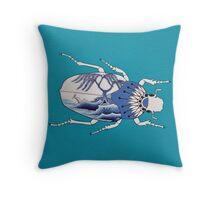 Segment from ' Blue Willow Beetles' Throw Pillow