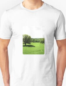 Grassways - An interesting stroll past one man; one bench Unisex T-Shirt
