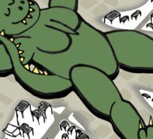 Godzillangel Sticker