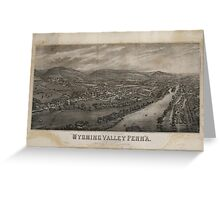 Village of Wyoming, Wyoming Valley Penn'a Pennsylvania (1885) Greeting Card