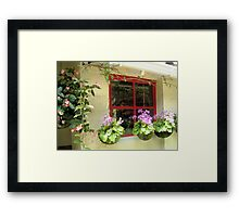 WINDOW WITH A LATIN TOUCH, from Colombia with love Framed Print