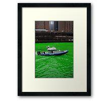 Green police Framed Print