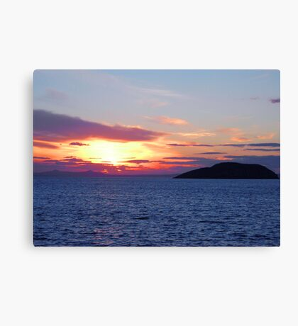 Sunset over the Firth of Forth Canvas Print