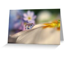 Forget-me-not tears Greeting Card