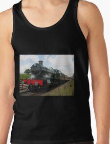 Vintage railway train steam engine locomotive  Tank Top
