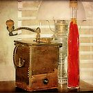 The Oil Lamp and The Coffee Grinder Still Life by DottieDees