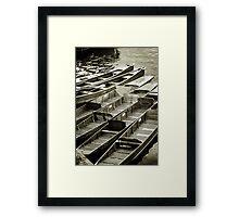Stratford upon Avon Riverboats Framed Print