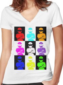 The Stig Farm from Top Gear Women's Fitted V-Neck T-Shirt