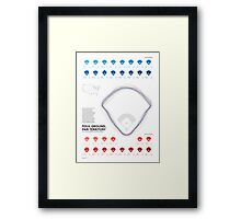 American Lines 01:  Foul Ground, Fair Territory Framed Print