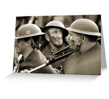 faces of war  Greeting Card