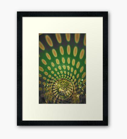 Spiraling Down the Rabbit's Hole Framed Print