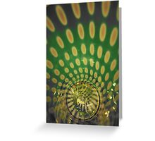 Spiraling Down the Rabbit's Hole Greeting Card