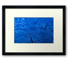 Ice Puzzle Framed Print