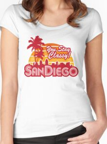 You Stay Classy! San Diego Women's Fitted Scoop T-Shirt