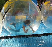 'BOY IN A BUBBLE!' Fringe festival. by Rita Blom