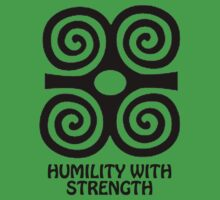 T-Shirt Adinkra Symbol: Humility with Strength by Keith Richardson