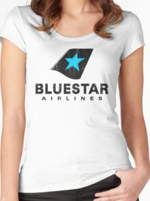 BlueStar Airlines (worn look) Women's Fitted Scoop T-Shirt