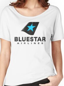BlueStar Airlines (worn look) Women's Relaxed Fit T-Shirt