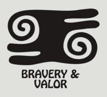 T-Shirt Adinkra Symbol: Bravery & Valor by Keith Richardson