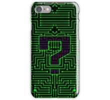 Question Mark Circuits iPhone Case/Skin