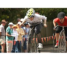 Penny Farthing Races, Evandale, Tasmania Photographic Print