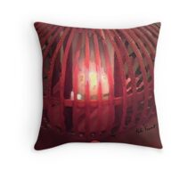 Red Lamp Glow  Throw Pillow