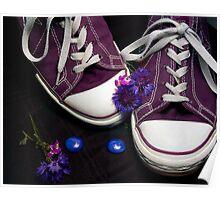 Purple Converse Poster