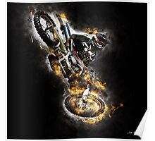 Bike on Fire #1 Poster