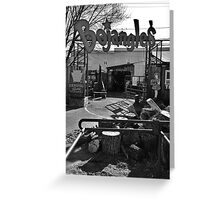 Bojangle's Garage Greeting Card