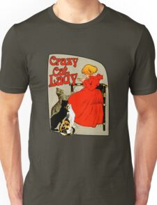 Vintage Crazy Cat Lady Unisex T-Shirt