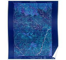 USGS Topo Map Oregon Pine 283239 1915 125000 Inverted Poster