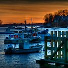 Manchester By The Sea at Sunset by Monica M. Scanlan