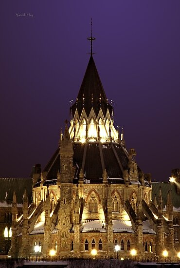 National Library of Canada, Parliament Hill, Ottawa, Ontario by Yannik Hay