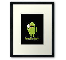 android vs apple Framed Print