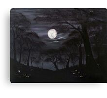 Lost In The Dark Woods Canvas Print