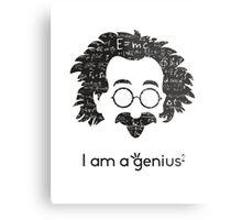 Einstein - I am a Genius Metal Print