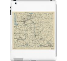 World War II Twelfth Army Group Situation Map August 14 1944 iPad Case/Skin