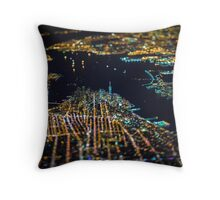 New York City At Night Pt 11 Throw Pillow