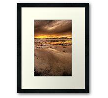 Cold Beach Framed Print