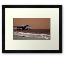 Tybee Pier Framed Print
