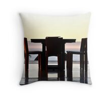 Dining at Sunset -The Monastery in Toro Canyon Throw Pillow
